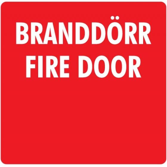 Dekal Branddörr/Fire Door